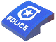 Part No: 15068pb162  Name: Slope, Curved 2 x 2 No Studs with White Police Badge and 'POLICE' Pattern (Sticker) - Set 60176