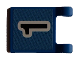 Part No: 2335pb033  Name: Flag 2 x 2 Square with Black Number 1 on Blue Background Pattern (Sticker) - Soccer