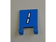 Part No: 2335pb113  Name: Flag 2 x 2 Square with White Number 1 with Black Outline on Blue Background Pattern (Sticker) - Set 3569