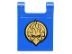 Part No: 2335pb147  Name: Flag 2 x 2 Square with Gold Chima Eagle Emblem Pattern on Both Sides (Stickers) - Set 70146