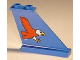 Part No: 2340pb005  Name: Tail 4 x 1 x 3 with Red Eagle Pattern on Right Side (Sticker) - Set 6331