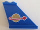 Part No: 2340pb050R  Name: Tail 4 x 1 x 3 with Classic Space Logo Pattern on Right Side (Sticker) - Set 70816