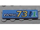 Part No: 2431px8  Name: Tile 1 x 4 with Racing 73 Team 1 Pattern