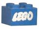 Part No: 3003pb009  Name: Brick 2 x 2 with Lego Logo Open O Style White without Black Outline Pattern (Samsonite)