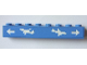 Part No: 3008pb125  Name: Brick 1 x 8 with Arrows and Airplanes Pattern (Sticker) - Set 3182