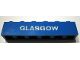 Part No: 3009pb055  Name: Brick 1 x 6 with White 'GLASGOW' Pattern