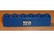 Part No: 3009pb100  Name: Brick 1 x 6 with 'Basel - Hamburg' Pattern (Sticker) - Set 7715
