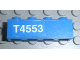 Part No: 3010pb091L  Name: Brick 1 x 4 with White 'T4553' Left Pattern (Sticker) - Set 4553