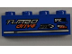 Part No: 3010pb151L  Name: Brick 1 x 4 with 'TURBO drive', 'DISC breakers' and 'ONE' Pattern Model Left (Sticker) - Set 8197