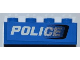 Part No: 3010pb153R  Name: Brick 1 x 4 with Black Air Intake and White 'POLICE' Pattern Model Right (Sticker) - Set 7970