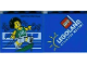 Part No: 30144pb130  Name: Brick 2 x 4 x 3 with Legoland Windsor Resort and Olympic Athlete #10 Pattern