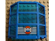 Part No: 30185c02pb01  Name: Window Bay 3 x 8 x 6 with Trans-Dark Blue Glass with 5 White Stripes and Coast Guard Pattern