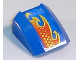 Part No: 30602pb035R  Name: Slope, Curved 2 x 2 Lip, No Studs with Flame Pattern Model Right (Sticker) - Set 8668