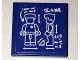 Part No: 3068bpb1026  Name: Tile 2 x 2 with Minifigure Blueprint and 'ZANE' Pattern (Sticker) - Set 70594