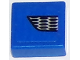 Part No: 3070bpb098R  Name: Tile 1 x 1 with Groove with Ford Mustang Lower Grille Honeycomb Pattern Model Right Side (Sticker) - Set 75871