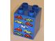 Part No: 31110pb039  Name: Duplo, Brick 2 x 2 x 2 with Nine Cars Pattern