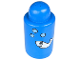 Part No: 31139pb01  Name: Primo Brick, Round 1 x 1 x 2 with Shaker Top, Fish and Bubbles Pattern