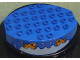 Part No: 31209px1  Name: Duplo Base 8 x 6 with Round Bottom and Fish Pattern