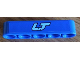 Part No: 32316pb016  Name: Technic, Liftarm 1 x 5 Thick with Medium Blue 'LT' Pattern (Sticker) - Set 8052