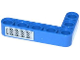 Part No: 32526pb005  Name: Technic, Liftarm 3 x 5 L-Shape Thick with Grille Pattern (Sticker) - Set 42023