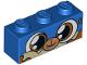 Part No: 3622pb085  Name: Brick 1 x 3 with Dog Face Wide Dark Orange Eyes, Dark Orange Splotches Pattern (Dessert Puppycorn)