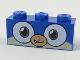 Part No: 3622pb089  Name: Brick 1 x 3 with Dog Face Wide Dark Orange Eyes, Medium Dark Flesh Muzzle Pattern