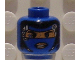 Part No: 3626bpb0081  Name: Minifig, Head Alien with Robot Female, Lips Pattern - Blocked Open Stud
