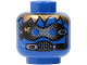 Part No: 3626bpb0097  Name: Minifig, Head Alien with Robot Male, Blue Eyes Pattern - Blocked Open Stud