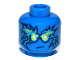 Part No: 3626bpb0851  Name: Minifigure, Head Male with Blue Energy Pattern (NRG Jay) - Blocked Open Stud