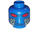 Part No: 3626cpb0500  Name: Minifig, Head Alien with Red Eyes and Breathing Apparatus Ports Pattern (SW Cad Bane) - Stud Recessed