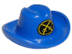 Part No: 3629px1  Name: Minifigure, Headgear Hat, Cowboy with Oval and Two Crossed Cutlasses Pattern