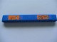 Part No: 40490pb005  Name: Technic, Liftarm 1 x 9 Thick with Arm Up and Arm Rotate Pattern (Stickers) - Set 8273