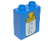 Part No: 4066pb088  Name: Duplo, Brick 1 x 2 x 2 with Baby Bottle Yellow Top Pattern