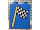 Part No: 4066pb119  Name: Duplo, Brick 1 x 2 x 2 with Checkered Flag Pattern