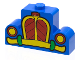 Part No: 4088px5  Name: Brick, Modified 1 x 4 x 2 Center Stud Top with Car Grille Mickey yellow/red Pattern