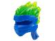 Part No: 41163pb04  Name: Minifigure, Headgear Ninjago Wrap Type 5 with Trans Neon Green Energy Effect Pattern