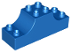 Part No: 4197  Name: Duplo, Brick 2 x 6 x 2 with Curved Ends