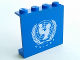 Part No: 4215apb07  Name: Panel 1 x 4 x 3 - Solid Studs with UNICEF Logo Pattern