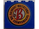 Part No: 4215bpb56  Name: Panel 1 x 4 x 3 - Hollow Studs with NHL Breakout Logo on Blue Background Pattern (Sticker) - Set 3579