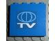 Part No: 4215pb035  Name: Panel 1 x 4 x 3 with TV Globe Logo Pattern (Sticker)