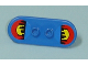 Part No: 42511pb01  Name: Minifig, Utensil Skateboard with Trolley Wheel Holders with Sunset behind City Skyline Pattern (Stickers) - Set 7641