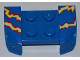 Part No: 44674pb15  Name: Vehicle, Mudguard 2 x 4 with Headlights Overhang with Electric Sparks on Blue Background Pattern on Both Sides (Stickers) - Set 8303