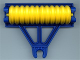 Part No: 4828c01  Name: Duplo Farm Plow Type 1, Roller Holder with Yellow Disk Roller Complete Assembly