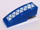 Part No: 50950pb026  Name: Slope, Curved 3 x 1 No Studs with White Triangles Pattern (Sticker) - Set 7868