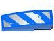 Part No: 50950pb088L  Name: Slope, Curved 3 x 1 No Studs with Worn Blue and Silver Danger Stripes Pattern Model Left Side (Sticker) - Set 75918