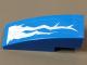 Part No: 50950pb104L  Name: Slope, Curved 3 x 1 No Studs, with Lightning Bolts Pattern Model Left Side (Sticker) - Set 70723
