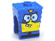 Part No: 54872pb09  Name: Minifigure, Head Modified SpongeBob SquarePants with Super Hero Pattern