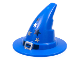 Part No: 6131pb04  Name: Minifigure, Headgear Hat, Wizard / Witch with Silver Buckle and Stars Pattern