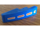 Part No: 61678pb078  Name: Slope, Curved 4 x 1 No Studs with 4 Orange Dots Pattern (Sticker) - Set 8163