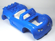 Part No: 85353c02pb01  Name: Duplo, Toolo Car Chassis Assembly with Blue Body and White Interior